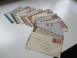Belegeposten Ca. 1942 - 44 Zensurpost Mit 38 Briefen Südamerika - USA Verschiedene Länder! Examined By... / Censorship - Briefmarken