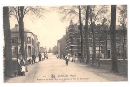 Virton Saint Mard Avenue De La Gare Rue De La Station Et Rue Dampicourt Animée Bon état 1924 - Virton