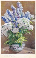AQ88 Artist Signed Postcard - Pot With Flowers - Other Illustrators