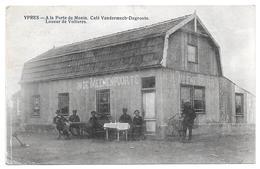 Ypres Ieper Café De La Porte De Menin Vandermech Degroote Loueur De Voitures Meenenpoorte - Ieper