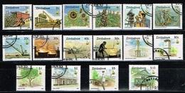 ZIMBABWE /Oblitérés/Used/1995 - Série Courante/Cultures Vivrières,Mines,Monuments(Serie Complète) - Zimbabwe (1980-...)
