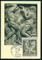"""CM-Carte Maximum Card #1968-France # Art #  Sculpture # Bas Relief  """" La Danse """" De  Bourdelle # Paris - Maximum Cards"""