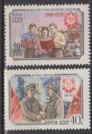 Russie N° 2222 - 2223 *** 10ème Ann De La République Populaire Chinoise : Etudiants, Ouvriers - 1959 - 1923-1991 URSS