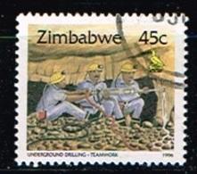 ZIMBABWE /Oblitérés/Used/1996 - Série Courante/Cultures Vivrières,Mines,Monuments - Zimbabwe (1980-...)