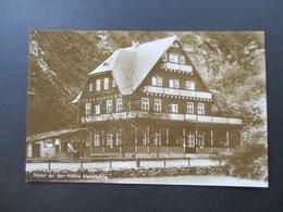 AK Echtfoto 1933 Hotel An Der Höhle Heimkehle Bei Uftrungen Südharz Mit Hotel Stempel - Hotels & Gaststätten