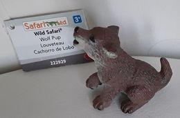 Figurine, Animal Sauvage, Louveteau - Bébé Loup - Wolf Pup - Wild Safari - Cachorro De Lobo - Long 5 Cm - Figurines