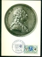 CM-Carte Maximum Card #1968-France #Histoire #Rattachement Corse à La France #Louis XV  By  Quentin De La Tour # Ajaccio - Cartes-Maximum