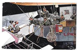 Arthur Thiele Serie 1108 T S N 1910 Die Luftpolizei Police De L'air Bon état - Thiele, Arthur
