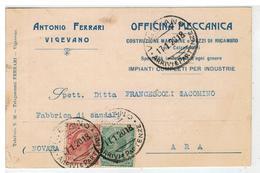 Cartolina Commerciale Vigevano - Antonio Ferrari - Officina Meccanica - Costruzione Macchine Per Calzaturifici - Vigevano