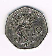&  MAURITIUS  10 RUPEES   1997 - Maurice