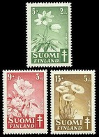Finland, 1949, Flowers, Set, MNH, Mi# 365/67 - Finland
