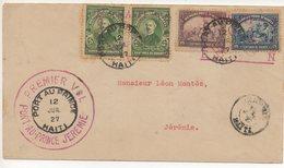AIR MAIL LETTER 1' Volo Del 12 07 1927 #51 - Haiti