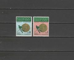 Pakistan 1969 Olympic Games Mexico, Hockey Set Of 2 MNH - Zomer 1968: Mexico-City