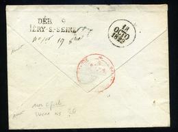"""Déboursé """"DEB 9 / MERY - S - SEINE"""" 1929 , Rare , Signé Baudot - Marcophilie (Lettres)"""