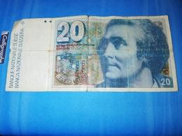 Billet De Vantg Francs Suisse Horace Benedict De Saussure 1740-1799 - Suisse