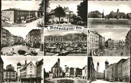 71603747 Rosenheim Bayern Bahnhof Strassenpartie Gesamtansicht Alpenpanorama Hol - Alemania