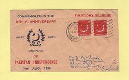 Pakistan - Karachi - FDC - Anniversaire Independance - 1956 - Pakistan