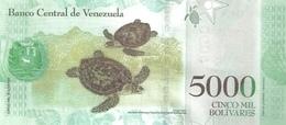 Venezuela P.97  5000 New  Bolivares 2016 A-unc - Venezuela