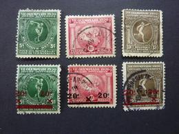 BELGIQUE, Année 1920 Et 1921, Jeux Olympiques, YT N° 179 à 186 Oblitérés (sans 182 Et 183) - België