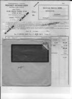 23 Creuse 69 Lyon Automobiles ROCHET SCHNEIDER Facture à Camille  MOREL Mecanicien A MAINSAT16 3 1936 + Enveloppe - France