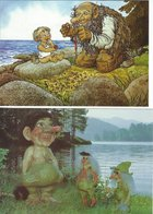 Norway - Trolls. 2 Cards Sent To Denmark.  B-3237 - Norway