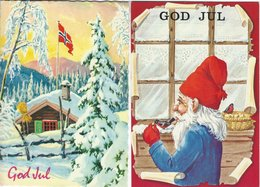 Norway - Christmas.   2 Cards Sent To Denmark.  B-3238 - Norway