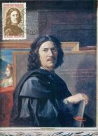 CM-Carte Maximum Card # 1965-France # Célébrités # Art # Nicolas Poussin ,peintre,Maler ,painter (selfportrait) Andelys - 1960-69