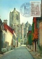 CM-Carte Maximum Card # 1965-France # Sites & Monuments # Architecture #Cathedral  Cathédrale,Dom St-Etienne De Bour - Cartas Máxima
