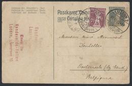 6sh.Postcard. Mail Passed 1920 Lucerne (Switzerland) Ostend (Belgium). Seal Of The Sender. - Switzerland