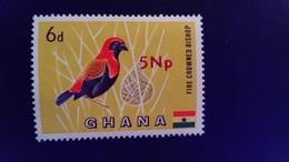 Ghana 1967 Animal Oiseau Bird Surchargé Overprint Yvert 268 ** MNH - Ghana (1957-...)