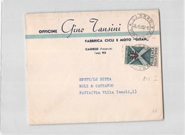 3212 01 OFFICINE GINO TANSINI FABBRICA CICLI E MOTO GITAN CAORSO X PAVIA - 6. 1946-.. Repubblica