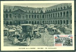 CM- Carte Maximum Card # 1964-France #Histoire #Guerre # Sieg ,50° Anniversiare Victoire  De La Marne # Obl. Verdun - Maximum Cards