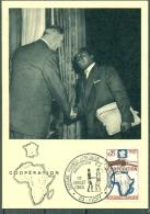 CM- Carte Maximum Card # 1964-France#Coopération France-Afrique-Général De Gaulle - Obl. Semaine Franco-Africiane Vichy - Maximum Cards