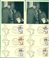 CM- Carte Maximum Card # 1964-France # Coopération France-Afrique -Général De Gaulle - (10 Pays Différents ) 2 Scans - Maximum Cards