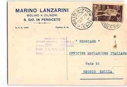 3475 01  LANZARINI MOLINO A CILINDRI SAN GIOVANNI IN PERSICETO X REGGIANE REGGIO EMILIA - 1900-44 Vittorio Emanuele III
