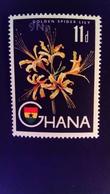 Ghana 1967 Fleur Flower Surchargé Overprint Yvert 259 ** MNH - Ghana (1957-...)