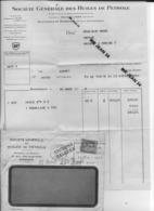 23 Creuse 33 BORDEAUX Sté Gale Des Huiles De Petrole British Petroleum Facture A Camille MOREL à MAINSAT 24 03 1936 - France