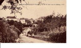 ANGLES SUR L'ANGLIN VUE DE LA ROUTE  SOUS LE CHATEAU - Other Municipalities