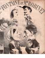 CAF CONC ROMANCE PARTITION XIX FONTAINE ET ROBINET DELANGE OLIVIER 1862 ILL STOP TAMBOUR-MAJOR EXCEPTIONNEL - Autres