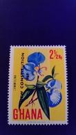Ghana 1969 Fleur Flower Surchargé Overprint NEW CONSTITUTION 1969 Yvert 347 ** MNH - Ghana (1957-...)