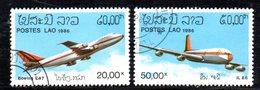T2260 - LAOS LAO 1986 , Serie Aerei Michel 920/921 Usata - Laos