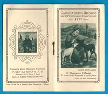 CALENDARIETTO RELIGIOSO: ANNO 1927 - SANTUARIO S. CUORE DI GESU' - SEDE: BUSTO ARSIZIO - Mm. 67 X 116 - Religione & Esoterismo