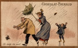Chromo  CHOCOLAT PAYRAUD UN COUP DE VENT - Suchard