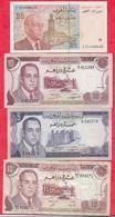 Maroc 4 Billets 1 En UNC Et 3 Dans L 'état - Maroc