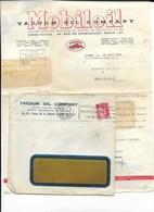 23 Creuse 69 LYON MOBIL OIL Vacuum Oil Company Courrier à MOREL à MAINSAT 28 MARS 1936 Flamme Foire De Lyon - France