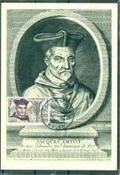 CM-Carte Maximum Card # 1963-France # Célébrités-celebrity#Religion#Jacques Amyot,prélat,humaniste,Bischof,bishop #Melun - Non Classés