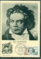 CM-Carte Maximum Card # 1963-France # Célébrités-celebrity #Ludwig Von Beethoven,Compositeur, Composer,Komponist # Paris - Cartas Máxima