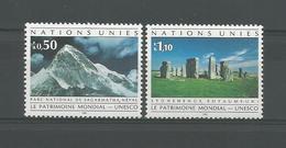 United Nations G. 1992 World Heritage Y.T. 222/223 ** - Geneva - United Nations Office