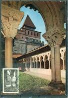 CM-Carte Maximum Card # 1963-France # Tourisme # Architecture # Abbaye,Abtei,abbey Of Moissac #  Moissac - 1960-69