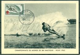 CM-Carte Maximum Card # 1963-France #  Sport # Ski Nautique,Wasserski,water Ski # World Championship #Vichy - Maximum Cards